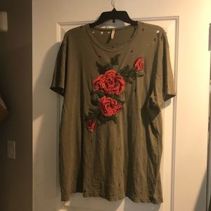 LF floral oversized tee